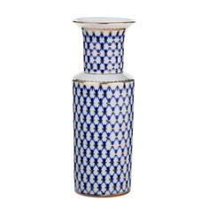 Ваза для цветов ЛФЗ Цилиндрическая кобальтовая сетка 1,2 л