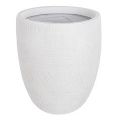 Горшок цветочный L&t pottery lантик белый d27h32