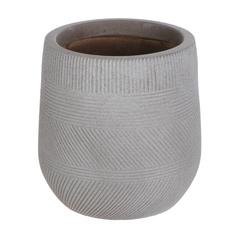 Горшок цветочный L&t pottery серо-коричневый d43.5