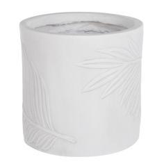 Горшок цветочный L&t pottery цилиндр leaf белый d31
