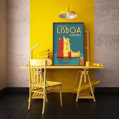 Постер Лиссабон 40х50 в тубусе