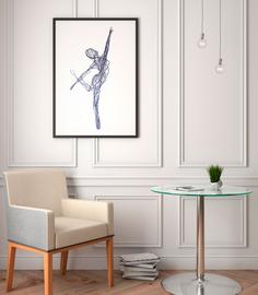 Постер Танцор 60х90 в тубусе