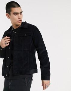 Черная вельветовая куртка Another Influence-Черный