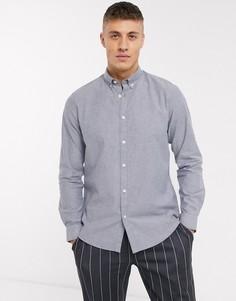 Голубая оксфордская рубашка Esprit-Синий