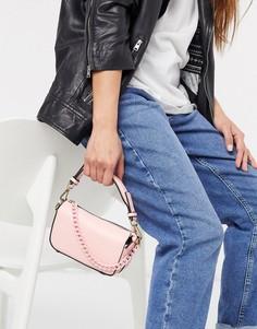 Розовая маленькая сумка с цепочкой Topshop-Розовый