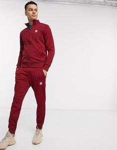 Бордовые джоггеры с логотипом adidas Originals-Черный