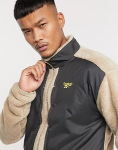 Флисовая куртка на молнии с логотипом Reebok-Желтый