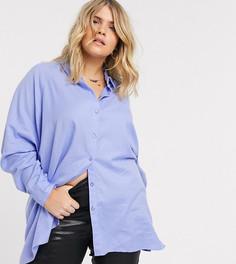 Рубашка бойфренда с длинными рукавами ASOS DESIGN Curve-Бесцветный