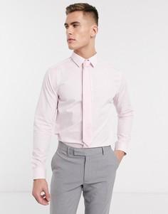 Светло-розовая поплиновая рубашка с длинными рукавами New Look-Розовый