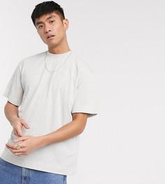Серая меланжевая футболка COLLUSION-Белый