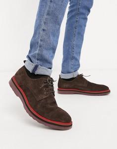 Замшевые туфли на толстой подошве со шнуровкой Lambretta-Коричневый