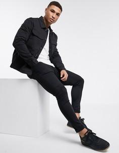 Черная куртка с большими карманами New Look-Черный