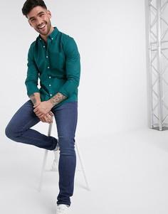 Синяя оксфордская рубашка с длинными рукавами New Look-Синий
