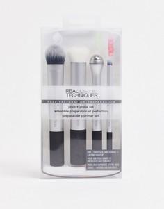 Набор кистей для ухода за кожей и макияжа Real Techniques Prep + Prime-Бесцветный