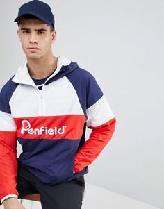 Сине-бело-красная куртка с капюшоном и логотипом Penfield-Темно-синий