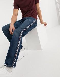 Темные прямые джинсы с фирменной лентой Polo Ralph Lauren Polo Sport-Темно-синий