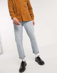 Светло-синие джинсы прямого кроя ASOS DESIGN-Синий