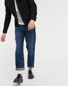 Темно-синие прямые джинсы до щиколотки ASOS DESIGN-Синий