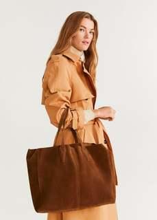 Кожаная сумка шоппер - Arribes Mango
