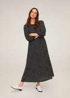 Длинное платье в горошек - Bombay Mango