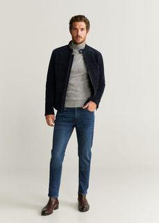 Замшевая куртка с налокотниками - Palermo Mango