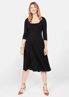 Расклешенное миди-платье - Remi Mango