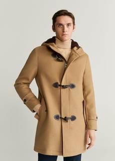 Пальто из шерсти с пуговицами-клыками - Erba Mango