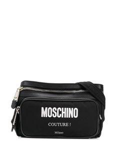 Moschino поясная сумка на молнии с логотипом