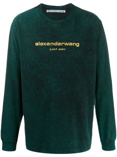 Alexander Wang embroidered logo sweatshirt