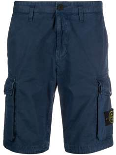Stone Island logo patch deck shorts