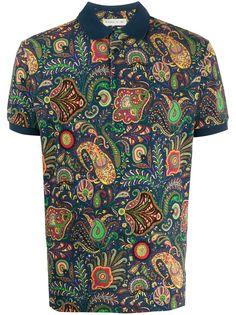Etro рубашка-поло с принтом пейсли