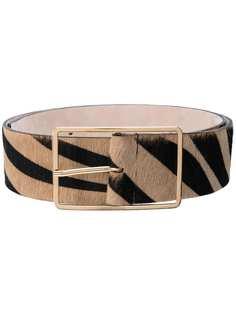 B-Low The Belt ремень Milla с зебровым принтом