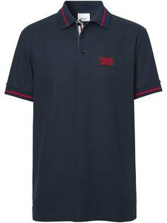 Burberry рубашка-поло с нашивкой-логотипом