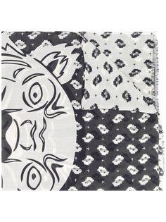 Kenzo двухцветный шарф Tiger