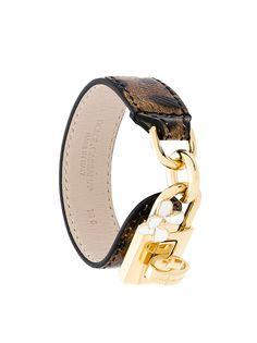 Dolce & Gabbana браслет с леопардовым принтом с замком