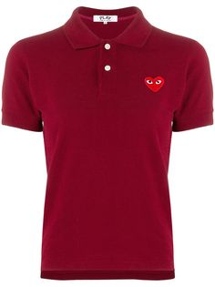 Comme Des Garçons Play рубашка-поло с нашивкой логотипа