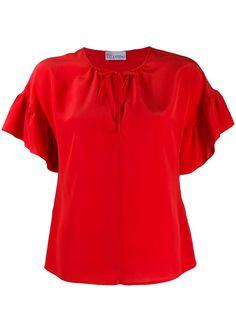 RedValentino блузка с оборками на рукавах
