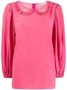 RedValentino блузка со вставками из тюля