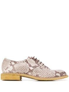 Del Carlo туфли на шнуровке с тиснением под кожу питона