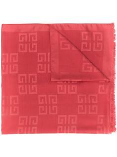 Givenchy жаккардовый шарф с логотипом 4G