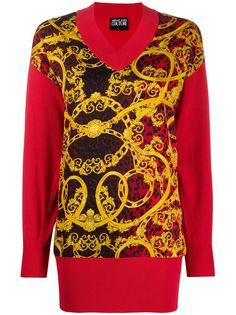 Versace Jeans Couture трикотажный джемпер с принтом Baroque