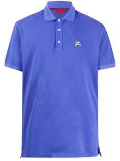 Isaia рубашка-поло с вышитым логотипом