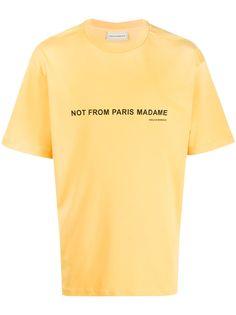 Drôle De Monsieur футболка с графичным принтом
