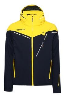 Сине-желтая куртка с капюшоном Bosco
