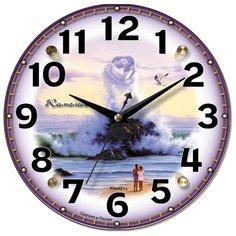Часы настенные кварцевые Камелия Волна 31-0 фиолетовый