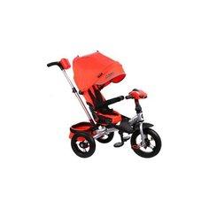 Трехколесный велосипед Moby Kids Leader 360° 12x10 AIR Car красный/серебристый