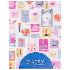 Многоразовые пеленки Daisy фланель 75x120 розовый/мультяшки