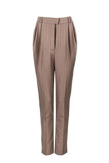 Зауженные брюки из шерсти в полоску Elena Andriadi