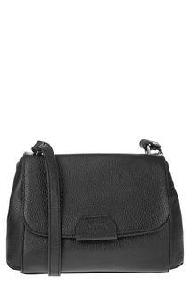 Черная кожаная сумка с откидным клапаном Afina