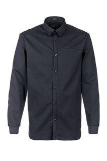 Синяя хлопковая рубашка с карманом Guess